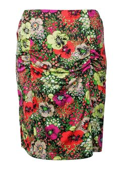 Add some colour to your life! Print Jersey Ruched Pencil Skirt - Plus Size - anna scholz