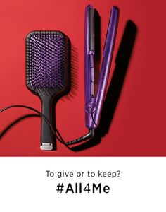 "GHD Jewel Collection 1"" Gold Professional Styler in Amethyst #All4Me #Sephora #Giftopia #gifts #holiday"