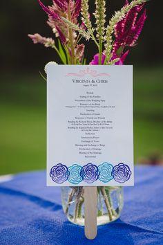 wedding programs http://www.weddingchicks.com/2013/10/23/north-carolina-wedding/