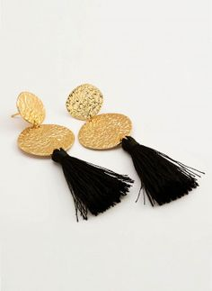 gold with black tassel earrings.  in love with these gorjana