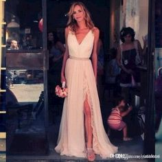 Show your best to all people even in the evening and then get  2015 vintage champagne princess a-line tulle lace evening dresses sexy v-neck sleeveless side split formal gowns full length bohemian in kissbridal and choose wholesale exclusive evening dresses,funky evening dresses and halter neck evening dresses on DHgate.com.