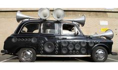 The 'Sound Taxi', created by London-based artist Yuri Suzuki in collaboration with audio design company AIAIAI, converts the noises heard during a trip through the streets of London into original music in real-time. Audio Design, Sound Design, Types Of Sound, Black Cab, Consumer Culture, Music Composers, Latest Gadgets, Electronic Music, Musicals