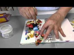 Using napkins in your art journal. - YouTube