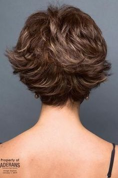66 Chic Short Bob Hairstyles & Haircuts for Women in 2019 - Hairstyles Trends Short Curly Hair, Short Hair Cuts, Curly Hair Styles, Layered Bob Hairstyles, Hairstyles Haircuts, Rene Of Paris Wigs, Short Hair With Layers, Hair Dos, Hair Trends