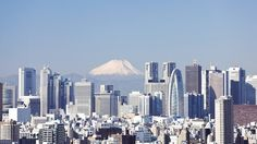Tokyo overview with Mt.Fuji backdrop