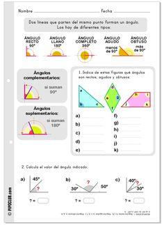 Actividad sobre los ángulos. #angulos #matematicas #Educación by @evacreando
