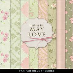 New Freebies Kit of Backgrounds - May Love