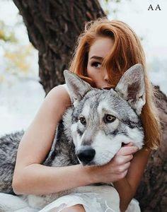 Portofolio Fotografi Potret - Girl wolf by Jovana Rikalo - Photo 178984617 Fantasy Photography, Animal Photography, Animals And Pets, Cute Animals, Wolves And Women, Wolf Love, Wolf Pictures, Wolf Spirit, Beautiful Wolves
