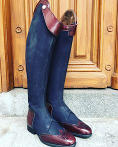 BE YOU and stand out from the rest! You may customize this model in any color or material you wish. You may freely combine colors and material too. Mens Riding Boots, Horse Riding Boots, Rider Boots, Equestrian Boots, Equestrian Outfits, Equestrian Style, Riding Habit, Horse Fashion, Custom Boots