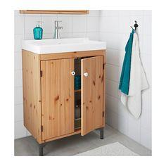 "SILVERÅN / TÄLLEVIKEN Sink cabinet with 2 doors - light brown, 23 5/8x16 1/8x34 1/2 "" - IKEA"