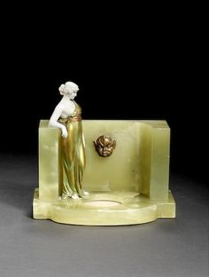 Ferdinand Preiss  'The Spring' a cold-painted bronze and carved ivory Figure…