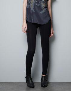 $14.90 BASIC KNIT LEGGINGS - Trousers - Woman - ZARA United States