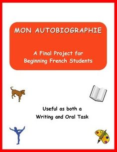 Provide your beginning French students with a structured way to write (and present) a simple autobiography.