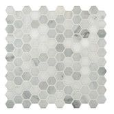 "Found it at Wayfair - 1"" x 1"" Honed Marble Mosaic in Arabescato Carrara"