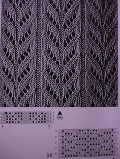 This post was discovered by Ел Lace Knitting Stitches, Lace Knitting Patterns, Knitting Designs, Knitting Yarn, Free Knitting, Stitch Patterns, Knitted Shawls, Knitted Blankets, Knitting For Kids