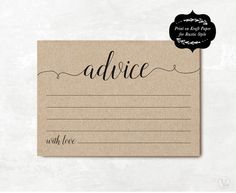 bridal shower advice cards template - 1000 ideas about advice cards on pinterest free