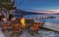 """""""Fireside Drinks"""" at the Hyatt Regency's Lone Eagle Grille will keep you warm this winter. #LakeTahoe"""