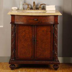 """Silkroad Exclusive Butler 34"""" Single Bathroom Vanity Set & Reviews   Wayfair"""