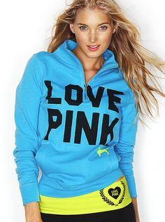 I LOVE this!! Gotta get this! Half-zip Pullover - Victoria's Secret Pink® - Victoria's Secret