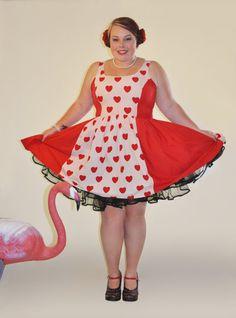 Queen of Hearts dress plus size 16  18 by QueenieTheCutie on Etsy, $60.00