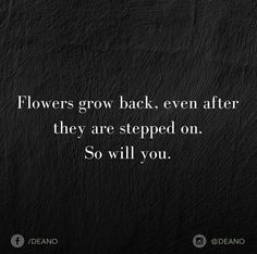 A narcissist will step on you and grind you down but you can come back better because you've learned. You've learned all about the behaviors, ploys, and manipulatings, and how to take care of yourself. You've learned to let them go as there's no changing them, deep down.