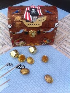 For Aidan's Birthday: DIY Kids Pirate Treasure Chest and DIY Booty | Fix It Up Woman