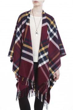 RUANA FELICIA Blanket Scarf Outfit, Shawl Cardigan, Diy Fashion, Fashion Outfits, Womens Fashion, Chic Outfits, Fall Outfits, Minimal Outfit, Cape Coat