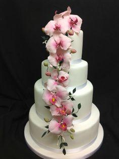 phalaenopsis orchids - by Authenticake @ CakesDecor.com - cake decorating website