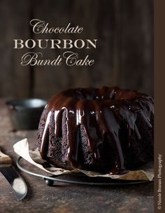 Chocolate Bourbon bundt cake recipe - moist and super flavorful. TheSpiceTrain.com