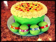 TMNT cake, sweet