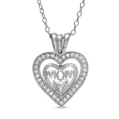 Your supermom deserves the best. visit www.zale.com for amazing mom gift ideas. Diamond MOM Triple Heart Pendant