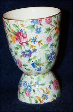 Royal Winton Grimwades Chintz Double Egg Cup Chintz Old Cottage | eBay