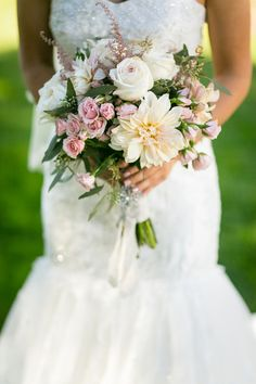 Fresh bridal bouquet #Weddings | Michael Anthony Photography