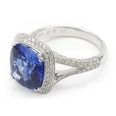 Double Halo Blue Sapphire Ring | Gemstone Jewelry - Wixon Jewelers