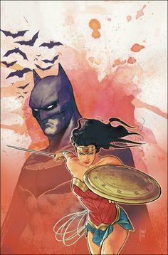 Batman and Wonder Woman by Mikel Janín