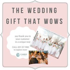 Wedding and event planners looking for the perfect way to give thanks to your customers for their business? What better way than something that is personalized, elegant, and incorporates their wedding photos! Check out Cameo Glass to place an order today. Event Planners, Give Thanks, Wedding Gifts, Wedding Photos, Thankful, Gift Ideas, Elegant, Business, Unique