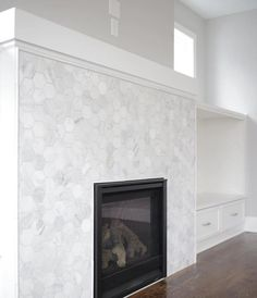 new product bada0 fd500 Hampton Carrara Tumbled Hex Marble Mosaic Tile - 3 x 3 in.