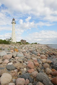 Kihnu lighthouse, Kihnu island, Estonia