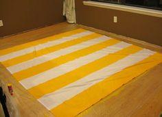 DIY yellow stripe.