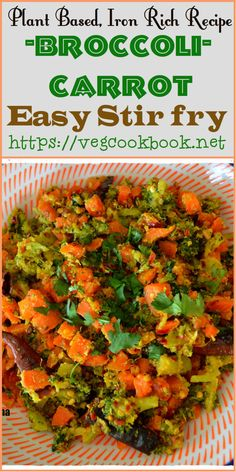 Broccoli Carrot Stir Fry   #vegcookbookbypaveena #vegan #vegetarian #glutenfree #healthy #homemade #recipe #recipes #side #dish #main #course #broccoli #carrot #quick #easy #stir #fry #food #foodie #thefeedfeed #curry #buzzfeed #thefeed #newsfeed #foodfeed #plantbased #wfpb #blogger #indian #stovetop #few #ingredients #greens #iron #fiberfood #fiberrich #tasty #kids #friendly #saladbowl #wellness #health #diet #lowcals #lowcarbs #weightloss #weightwatchers