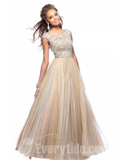 this is my prom dress! im ordering it next week!! Wholesale 2013 New Style Bateau Short Sleeves Net Beaded Prom Dresses