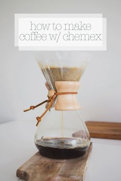 How to make pour over coffee with a Chemex