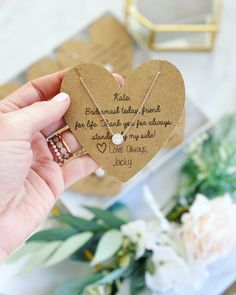 Bridesmaid Today, Friend for Life Bridesmaid Necklace! – Love Leigh Gift Co.