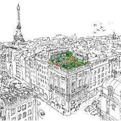Illustration by Philippe Dumas - Émile Hermès' grandson
