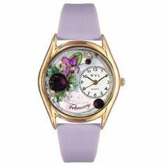 Whimsical Watches Women's C0910002 Classic Gold Birthstone: February Purple Leather And Goldtone Watch Whimsical Watches. $40.99
