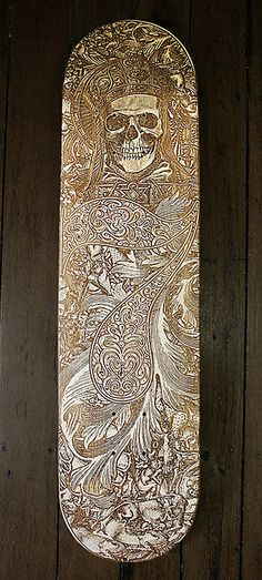 Seriously cool laser-cut skate deck