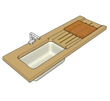 Drainboard and cutting board designed working together without taking up a lot of space.