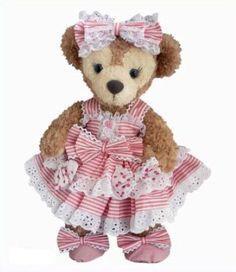 Shellie May Handmade Costume Hat Drawers with Ribbon Stripe Dress Pink | eBay