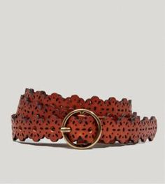 AEO Floral Leather Belt