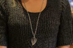Free Shipping  Shimmering Filigree Leaf Long Strand by glitre, $16.00